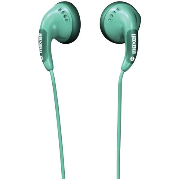 Maxell Green Stereo Earbuds