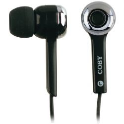 Coby Isolation Earphone Blk
